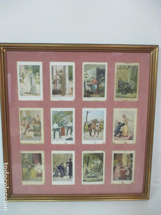 Arte: 12 Escenas de Género - V. Giné, A. Seriña, J. Cantarell - Ediciones A. Virgili - Finales S. XIX - Foto 2 - 143368822