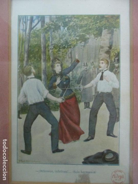 Arte: 12 Escenas de Género - V. Giné, A. Seriña, J. Cantarell - Ediciones A. Virgili - Finales S. XIX - Foto 9 - 143368822