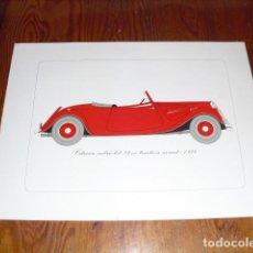 Arte: CITROËN CABRIOLET 22 CV TRACTION AVANT - 1934 -. Lote 143496866