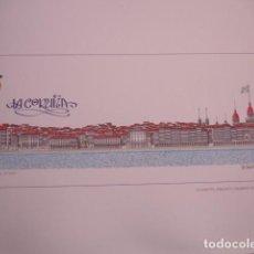 Arte: LA CORUÑA DESDE LA RIA.VISTA EN PAPEL DE GRAN CALIDAD 2006 .41X15.5 PARDO VALDES. Lote 143975578