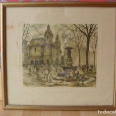 Arte: IGLESIAS BILBAO SAN NICOLÁS ARENAL CASCO VIEJO LÁMINA ANTIGUA CON FIRMA ÚNICA EN TODOCOLECCIÓN. Lote 144056998