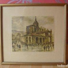 Arte: IGLESIAS BILBAO SAN ANTÓN CASCO VIEJO LÁMINA ANTIGUA CON FIRMA ÚNICA EN TODOCOLECCIÓN. Lote 144057134