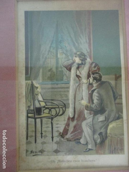 Arte: 12 Escenas de Género - V. Giné, A. Seriña, J. Cantarell - Ediciones A. Virgili - Finales S. XIX - Foto 10 - 144481358