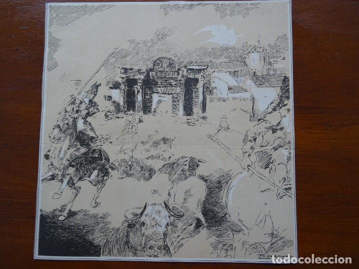 LAMINA RICARDO MARÍN, 26 X 26 CM APROX (Arte - Láminas Antiguas)