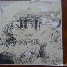 Arte: LAMINA RICARDO MARÍN, 26 X 26 CM APROX. Lote 144628546
