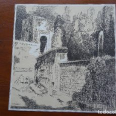 Arte: LAMINA RICARDO MARÍN, 26 X 26 CM APROX, GRANADA ALHAMBRA. Lote 144628618