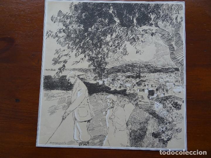 LAMINA RICARDO MARÍN, 26 X 26 CM APROX, GOLF (Arte - Láminas Antiguas)