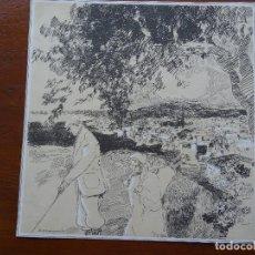 Arte: LAMINA RICARDO MARÍN, 26 X 26 CM APROX, GOLF. Lote 144628674