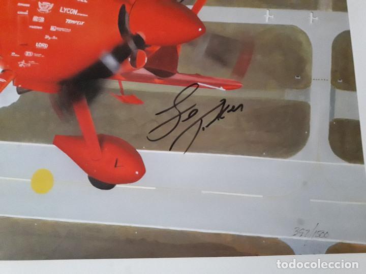 Arte: Lámina numerada Sam Lyons dedicada y firmada por piloto Sean D Tucker - Foto 2 - 144962946
