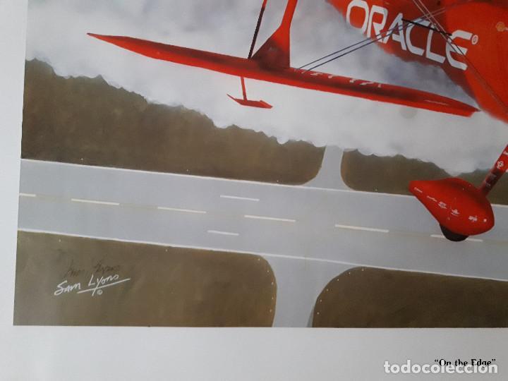 Arte: Lámina numerada Sam Lyons dedicada y firmada por piloto Sean D Tucker - Foto 3 - 144962946