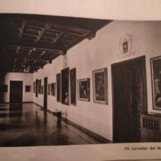 Arte: ANTIGUA LAMINA HUECOGRABADO BARCELONA VIRGEN DE MONTSERRAT - CORREDOR DEL MONASTERIO. Lote 146231330