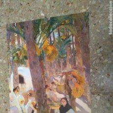 Arte: **LAMINA PARA ENMARCAR DE, --- JOAQUIN SOROLLA, (ELCHE, EL PALMERAL) 60/42 CM. VISION DE ESPAÑA**. Lote 146888561
