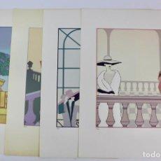 Arte: 4 LAMINAS FIRMADAS Y NUMERADAS POR YAGO.FINALES DE SIGLO XX.. Lote 146898218