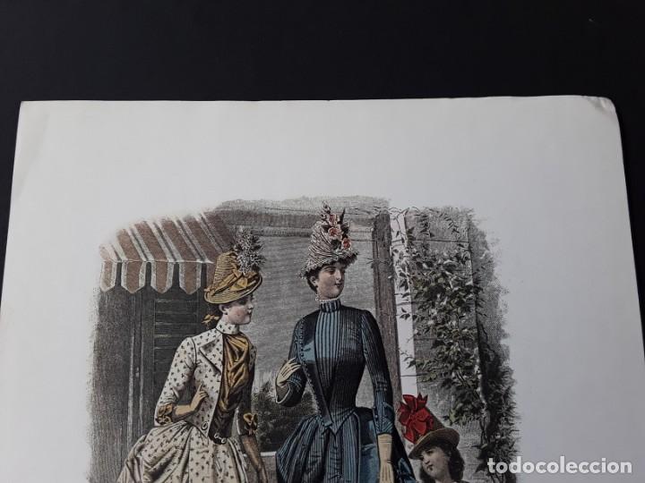 Arte: Lámina La Mode Illustrée. La moda ilustrada - Foto 2 - 147217054