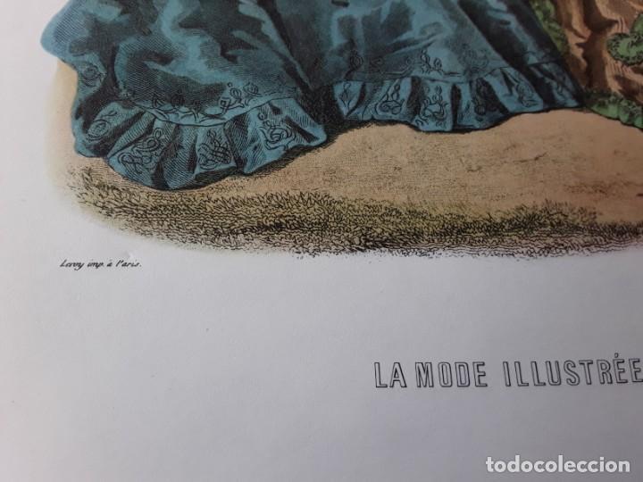 Arte: Lámina La Mode Illustrée. La moda ilustrada - Foto 2 - 147218750
