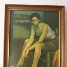 Arte: ANTIGUA LAMINA ENMARCADA JULIO ROMERO DE TORRES. Lote 147655390