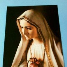 Arte: LAMINA VIRGEN CARTULINA 27,5 X 20,5 CM - DORSO: VIRGEN DE FATIMA Y JUAN PABLO II MAYO 1991. Lote 147704386