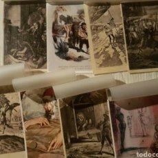 Arte: LÁMINAS DE ARTE CON MOTIVOS DON QUIJOTE. Nº 2, 3, 4, 6, 7, 8, 11, 12. ROGER. SUPRA CORTEX CARNITINA.. Lote 148086380