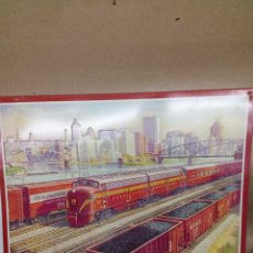 Arte: PANEL METALICO PENNSYLVANIA RAILROAD. Lote 148217498