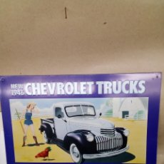 Arte: PANEL METÁLICO CHEVROLET TRUCKS. Lote 148218426