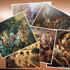 Arte: 6 LÁMINAS JULIA MINGUILLON ARTE EXPOSICIÓN CULTURA LIENZO ÓLEO PINTURA GALICIA. Lote 148439600