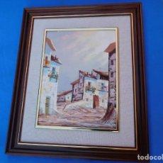 Arte: PINTURA AL ÓLEO SOBRE LIENZO, ANTIGUA, ORIGINAL, PERFECTO ESTADO, MARCO DE MADERA, 55 X 43 CM,. Lote 148594454