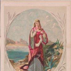 Arte: LAMINA ANTIGUA, DIBUJO DE JOSÉ SIMÓN – LA AMANTE DEL REY DE THULE - 1878. Lote 148970118