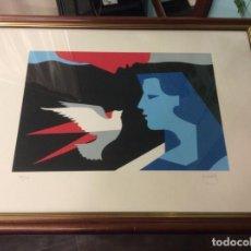 Arte: CUADRO PRADEL PALOMA GOLONDRINA PERSONA LIBERTAD. Lote 149862986