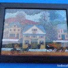 Arte: CUADROS PINTADOS SOBRE TABLA, CON HUELLAS DEL PASO DEL TIEMPO, RESTAURADOS, 32 X 27 CM. Lote 149903574