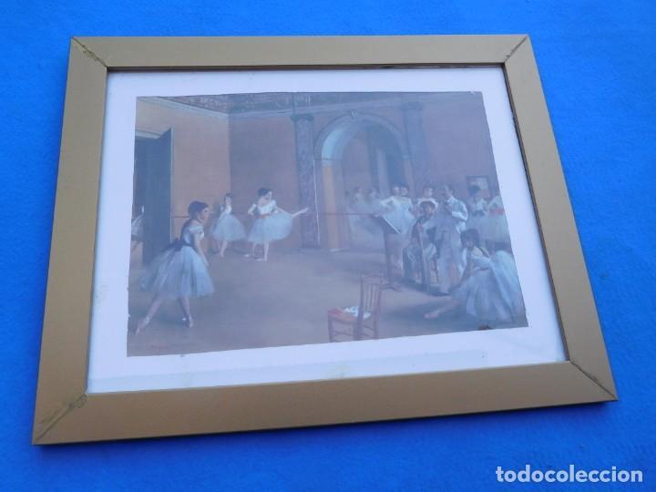 CLASE DE DANZA EN LA OPERA. DE E. H. DEGAS,1872, MARCO DE 53 X 41 CM (Arte - Láminas Antiguas)