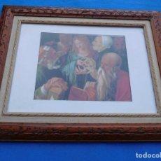 Arte: OBRA DE ALBERTO DURERO, TITULADA JESUS ENTRE LOS DOCTORES DEL TEMPLO, EN MARCO DE 49X39 CM.. Lote 150417634