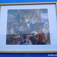 Arte: MAGNIFICO CUADRO, LÁMINA SOBRE TABLA. MUY ANTIGUO, MARCO DE MADERA, TRASERA DE MADERA.. Lote 150648574