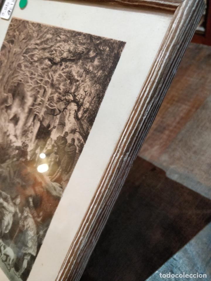 Arte: Lámina antigua enmarcada - Los siervos de vemusa conspiraban en la soledad de los bosques - - Foto 6 - 41729563