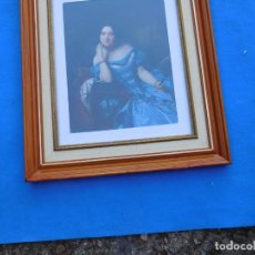 Arte: CONDESA DE VILCHES, DE FEDERICO DE MADRAZO, MARCO DE 50X40 CON CRISTAL, PASPARTÚ, TRASERA DE MADERA.. Lote 151459354