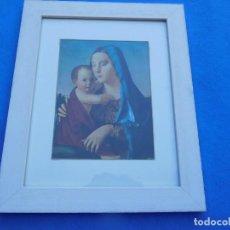 Arte: IMAGEN DEL RENANCESTISMO ITALIANO MARCO DE 35 X 27 CM. CON CRISTAL, PASPARTÚ, TRASERA DE MADERA.. Lote 151460698