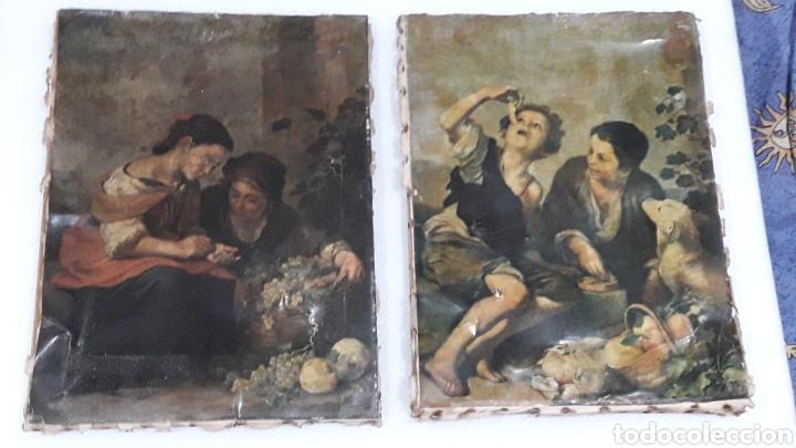 ANTIGUAS LAMINAS SOBRE LIENZO (Arte - Láminas Antiguas)