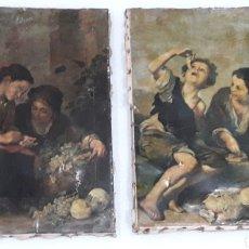 Arte: ANTIGUAS LAMINAS SOBRE LIENZO. Lote 153255052