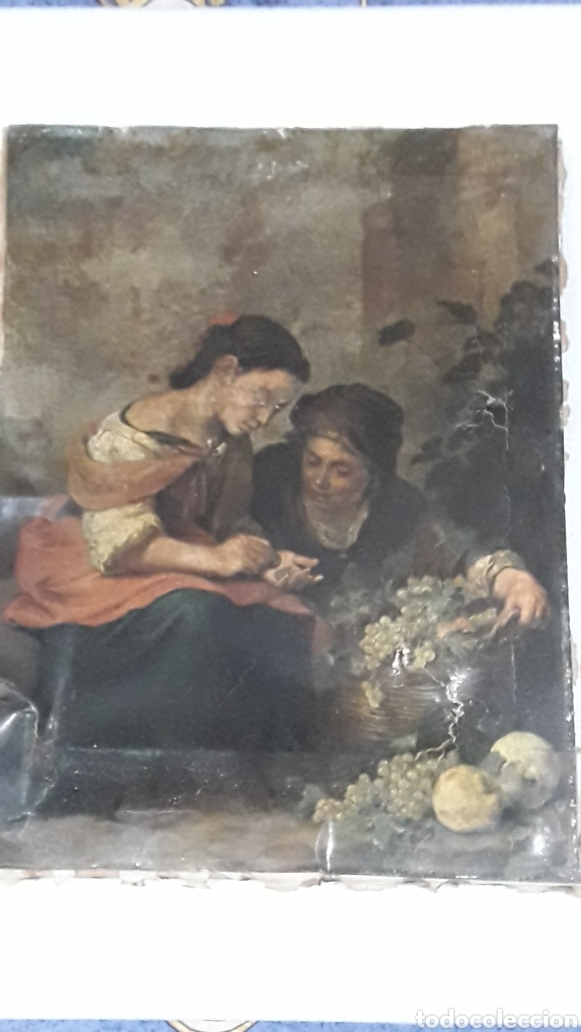 Arte: ANTIGUAS LAMINAS SOBRE LIENZO - Foto 2 - 153255052