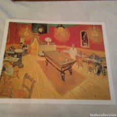 Arte: LAMINA CAFÉ DE NOCHE,INTERIOR DE VAN GOGH. Lote 153544869