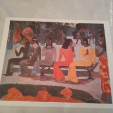 Arte: LAMINA TA MATETE DE GAUGUIN. Lote 153545250