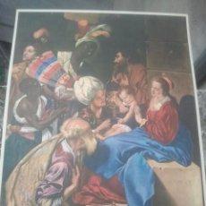 Arte: LA ADORACIÓN DE LOS REYES - JUAN BAUTISTA MAÍNO, SIGLO XVII - PRECIOSA LÁMINA ANTIGUA - 32 X 23 CMS. Lote 153949890