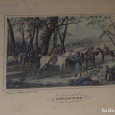Arte: LAMINA COLOREADA DE 1822 Nº 2. Lote 154529438