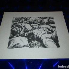 Arte: BONITA LAMINA CON HOMBRES O SOLDADOS TUMBADOS EN CAMPO DESCANSANDO. Lote 154909546
