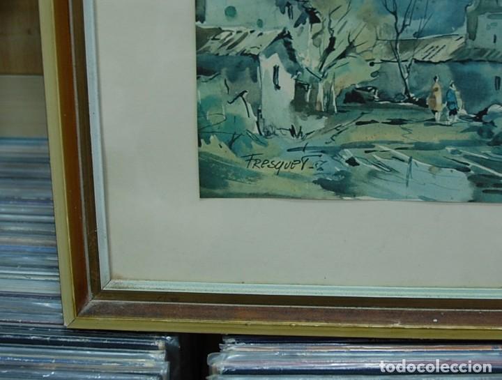 Arte: LMV - Lamina reproducción de acuarela firmada por Fresquet, paisaje rural, enmarcada 48x40'50 cm - Foto 2 - 155242106