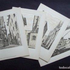Arte: PIEDRAS MILENARIAS DE BARCELONA - 20 LÁMINAS DE DESIDERIO JUSTE. Lote 155701554