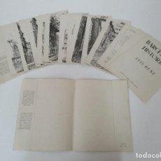Arte: BARCELONA HISTORICA - LUÍS REÑÉ - CARPETA CON 11 LÁMINAS CON DIBUJOS - DEDICATORIA AUTÓGRAFA - 1959. Lote 156980626