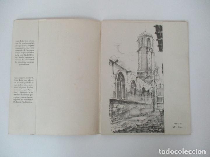 Arte: Barcelona Historica - Luís Reñé - Carpeta con 11 Láminas con dibujos - Dedicatoria Autógrafa - 1959 - Foto 3 - 156980626