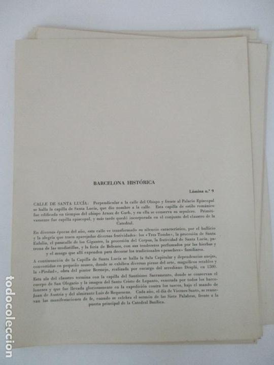 Arte: Barcelona Historica - Luís Reñé - Carpeta con 11 Láminas con dibujos - Dedicatoria Autógrafa - 1959 - Foto 7 - 156980626