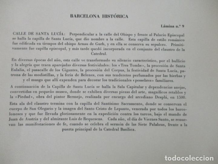 Arte: Barcelona Historica - Luís Reñé - Carpeta con 11 Láminas con dibujos - Dedicatoria Autógrafa - 1959 - Foto 9 - 156980626