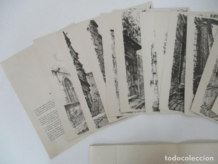 Arte: Barcelona Historica - Luís Reñé - Carpeta con 11 Láminas con dibujos - Dedicatoria Autógrafa - 1959 - Foto 10 - 156980626